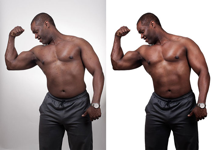 Photo Retouching Body before-after