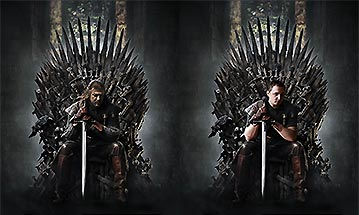 Game of Thrones photoshop before - after