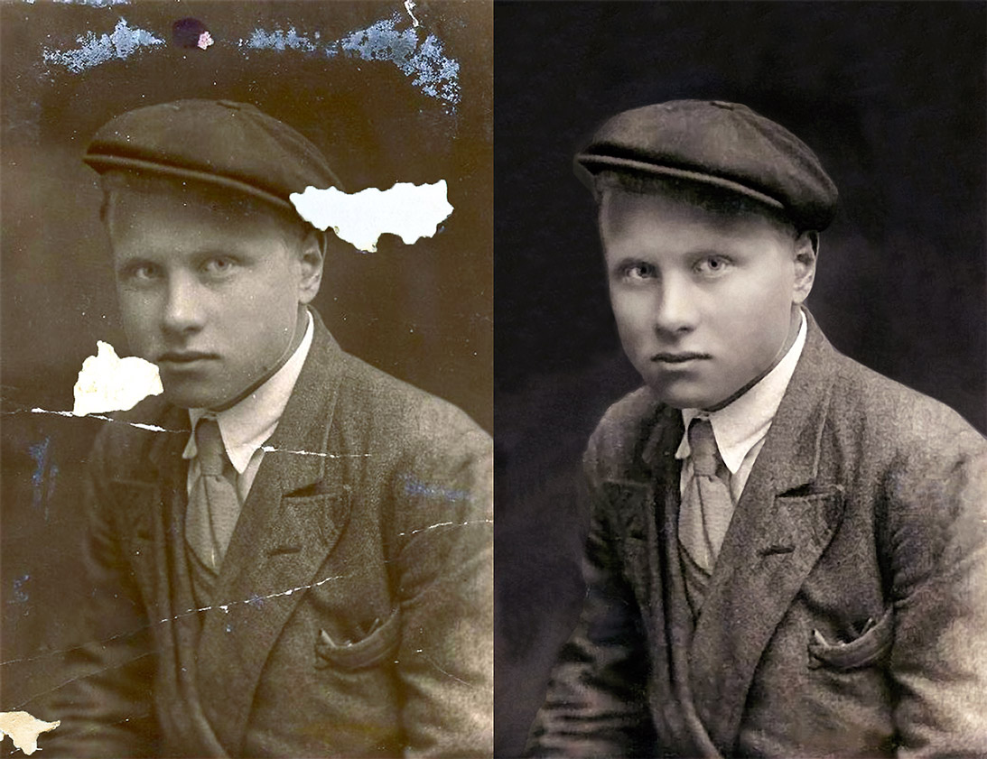 Restore Faded, Aged Photographs with Free Old Photo