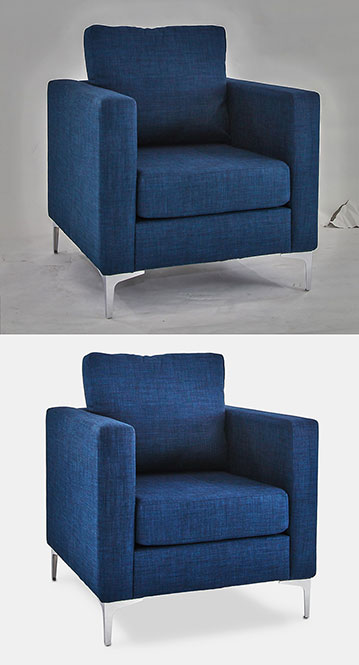 Background removal - chair blue