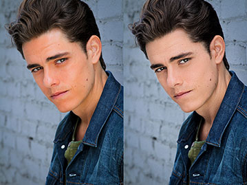 Man headshot retouching