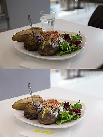 Photo retouching food before after look