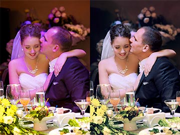 Wedding Photo Editing Service - Restore Colors