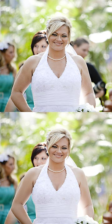 Wedding photo retouching